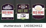 vector vintage red and white... | Shutterstock .eps vector #1403824412