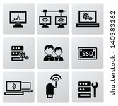 computer system icons vector | Shutterstock .eps vector #140383162