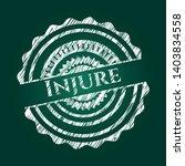 injure chalkboard emblem....   Shutterstock .eps vector #1403834558