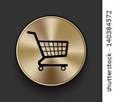 vector metal shopping cart icon ...