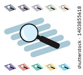 vector magnifying glass icon  ... | Shutterstock .eps vector #1403855618