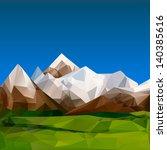 Mountainous Terrain  Polygonal...