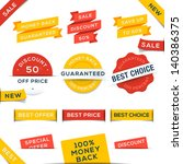 set of vector badges and... | Shutterstock .eps vector #140386375
