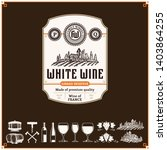 vector vintage white wine label.... | Shutterstock .eps vector #1403864255