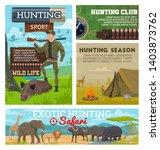 hunter sport adventure...   Shutterstock .eps vector #1403873762