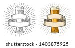 glass beer with ribbon. vector... | Shutterstock .eps vector #1403875925
