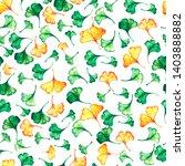 ginkgo biloba leaves floral... | Shutterstock . vector #1403888882