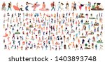 crowd of flat illustrated... | Shutterstock .eps vector #1403893748