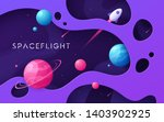 colorful cartoon outer space... | Shutterstock .eps vector #1403902925
