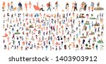 crowd of flat illustrated... | Shutterstock .eps vector #1403903912