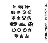 grunge icon set eps  creative...