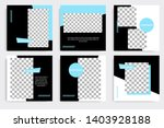 editable square abstract... | Shutterstock .eps vector #1403928188