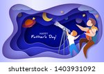 man with sleeping daughter and...   Shutterstock .eps vector #1403931092