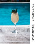 coconut and pineapple cocktail...   Shutterstock . vector #1403938718