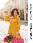 outdoor portrait of young...   Shutterstock . vector #1403954045