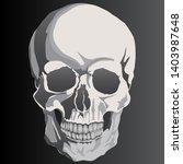 skull on black background... | Shutterstock .eps vector #1403987648