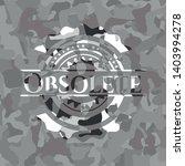 obsolete grey camo emblem.... | Shutterstock .eps vector #1403994278