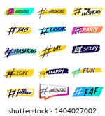 hashtag icon with text for... | Shutterstock .eps vector #1404027002