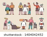 a variety of work done at a... | Shutterstock .eps vector #1404042452