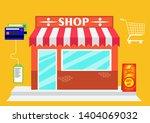 online shopping and e commerce... | Shutterstock .eps vector #1404069032