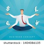 businessman sitting in lotus...   Shutterstock .eps vector #1404086135