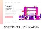 global internet communication ... | Shutterstock .eps vector #1404093815