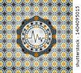 electrocardiogram icon inside... | Shutterstock .eps vector #1404095015