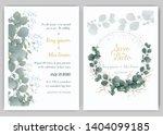 greenery wedding invitation ...   Shutterstock .eps vector #1404099185