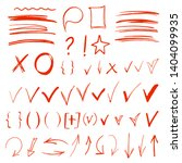 a537b44be69b5 hand drawn sketch doodle arrows ...   Shutterstock .eps vector #1404099935