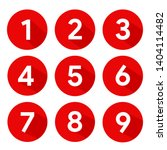 set of round 1 9 numbers icon... | Shutterstock .eps vector #1404114482