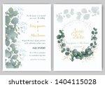 greenery wedding invitation ...   Shutterstock .eps vector #1404115028