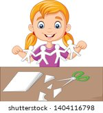 cartoon little girl making... | Shutterstock .eps vector #1404116798