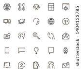online consultation ine icon...   Shutterstock .eps vector #1404123785