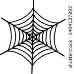 spider web icon. outline spider ... | Shutterstock .eps vector #1404127892