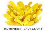 splashing lemon fruit juice cut ...   Shutterstock .eps vector #1404137045