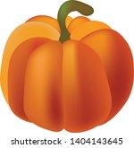 pumpkin on an isolated white... | Shutterstock .eps vector #1404143645