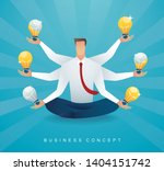 businessman sitting in lotus...   Shutterstock .eps vector #1404151742