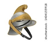 French Cuirassier Heavy Cavalry Officer Helmet Isolated on White Background 3D Illustration