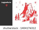 cappadocia hand drawn turkish... | Shutterstock .eps vector #1404176312