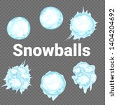 set of isolated snow cap. snowy ... | Shutterstock . vector #1404204692