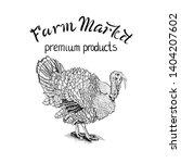 turkey vector hand drawn for... | Shutterstock .eps vector #1404207602