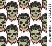 skull pattern design isolated... | Shutterstock .eps vector #1404216335