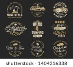 vintage surfing graphics set... | Shutterstock .eps vector #1404216338