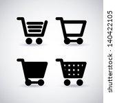 shopping cart over gray... | Shutterstock .eps vector #140422105