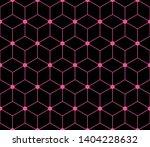 pink hexagon background.... | Shutterstock .eps vector #1404228632
