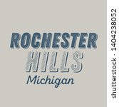 rochester hills  michigan t... | Shutterstock .eps vector #1404238052