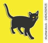 black cat vector design... | Shutterstock .eps vector #1404250925