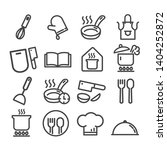 set of cooking minimal icons... | Shutterstock .eps vector #1404252872