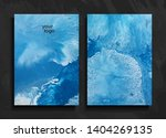 set of abstract painted... | Shutterstock .eps vector #1404269135