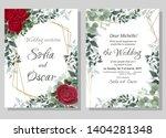 vector template for wedding... | Shutterstock .eps vector #1404281348